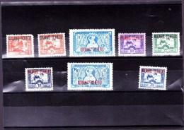 KOUANG-TCHEOU : Y&T :lot De8 Timbres * - Kouang-Tchéou (1906-1945)