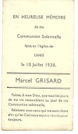 Meix Devant Virton Limes Marcel Grisard Communion Solennelle 10 Juillet 1938 - Meix-devant-Virton