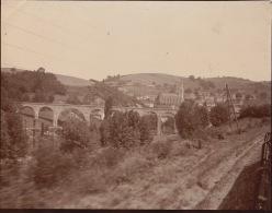 Photo Ancienne 1904 Près De La Gare De Saint Victor Thizy Du Chemin De Fer - Places