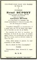 Virton Saint Mard René Dupont Epoux De Adrienne Hustin Prisonnier De Guerre 40 45 Saint Mard 1908 Athus1954 - Virton