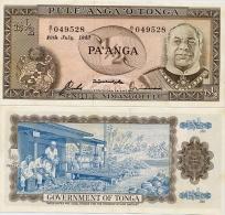 TONGA       ½ Pa'anga       P-18c       29.7.1983       UNC  [ 1/2 - Half ] - Tonga