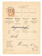 Schweiz Zürich 23.6.1880 Mit 20Rp Sitzende Auf PTT Rückschein Teil - 1862-1881 Sitzende Helvetia (gezähnt)