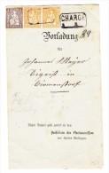 Schweiz Vorladung Chargé Mit Sitzende 20Rp Waag. Paar Und 5Rp. Aus Birmensdorf 1.10.1879 - 1862-1881 Helvetia Assise (dentelés)