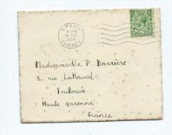 Angleterre - Marcophilie EMA  Epsom Surrey 31 DEC 1934  Timbre Stamp King George V - Marcophilie - EMA (Empreintes Machines)
