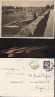 3868) PAVIA PANORAMA COL PONTE COPERTO VIAGGIATA 1946 BOLLO IMPERIALE 1 LIRA CON FASCI USO TARDIVO? - Pavia