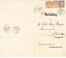 Vorladung Chargé Mit 5Rp Und 20Rp Waag. Paar 20.8.1880 Baden Ges. Nach Bellikon - 1862-1881 Helvetia Assise (dentelés)