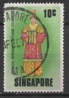 SINGAPORE 1976 Bridal Costumes - 10c Chinese Costume  FU - Singapour (1959-...)
