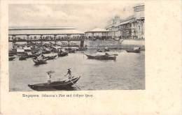 Singapour - Johnston's Pier And Collyer Quay, Singapore (qualité Photo) - Singapour