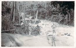 Malaisie - Chanderiang, Exploitation Forestière De Bois (carte Photo 1925) - Malaysia