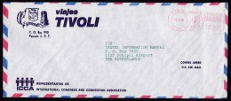 Panama: Airmail Cover To Netherlands, 1985, Red Meter Cancel (traces Of Use) - Panama