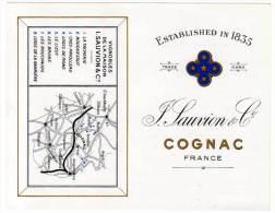 Cognac Sauvion & Cie, Vignobles ( Liste Des Cognac & Rhum Marita Au Verso ) - Publicités