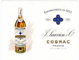 Cognac Sauvion & Cie, Vignobles - Publicités