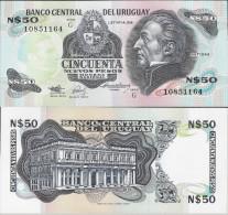 Uruguay 1989 - 50 Nuevos Pesos - Pick 61a UNC - Uruguay