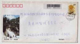 Black-dragon-pool Waterfall,China 2002 Beijing Miyun Country Tourism Scenic Spot Postal Stationery Envelope - Other