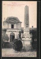CPA Mirande, Monument Des Combattants Et Entrée Du Palais De Justice - Mirande