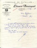 11.AUDE.NARBONNE.FABRIQUE DE FUTAILLES.LEONCE BOUSQUET 4,6,10 RUE DE TLEMCEN. - France