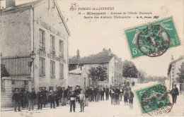 """1920 Mirecourt """" Avenue De L'Ecole Normale  """" Sortie Des Ateliers Thibonville - Mirecourt"""