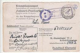 Italy: Italian PoW Prisoner Of War Postcard, Stalag VI J To Italy, 13 June 1944 - Militaria