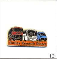 Pin´s - Transport - Huiles Renault Diesel Bus-Camion-Utilitaire. Est. Arthus Bertrand. Zamac. T414-12B. - Trasporti