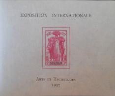 EXPOSITION INTERNATIONALE - ART ET TECHNIQUE 1937 - NEUF ** - YT BL 1 - MI BL 1 - Soudan (1894-1902)