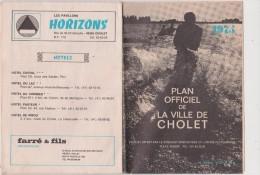 Vieux  Papier :   Plan  Officiel  Ville  De  CHOLET - Planches & Plans Techniques