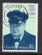Great Britain 1974 Winston Churchill 4½p Value, Used - Usados