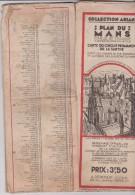 Vieux  Papier :   Plan  Officiel  Ville  LE  MANS - Planches & Plans Techniques