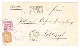 Chargé Brief 3.5.1892 Entlebuch Mit 20Rp Sitzende Und 10Rp WZ Auf Brief Nach Nottwyl LU - 1862-1881 Helvetia Assise (dentelés)