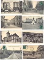 10 CPA De Valence, Toutes Avec Petites Animations - Valence