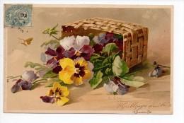 Pionnière - Illustrateur Klein - Panier Fleuri Renversé - Noms Sur La CP = Jaudichet De Paris - 1905 - Klein, Catharina