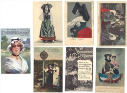 7 CPA Costumes D'Alsace-Lorraine, Patriotiques ( 67 / 68 ) - France