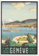 Suisse : Geneve - J. De La Nezière 1925 (repro Affiche) éd Clouet Neuve (illustrateurs) - GE Geneva