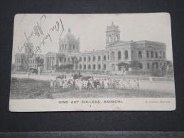 INDE ANGLAISE - Carte De Karashi Pour Lyon Avec Cachet Bureau En Mer Bombay Aden - 1909 - Un Pli D'angle - P 16059 - India (...-1947)