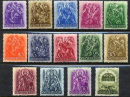 HUNGARY 1938 St. Stephen  Set Lightly Hinged Mint / *.  Michel 551-64 - Hungary