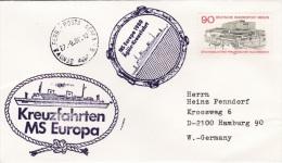 Ship Cover: M/S Europa Cruising The Ägäiis P/m Genova 1980 (SKO1-1) - Schiffe