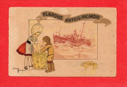 62-Chalutier De Boulogne -sur-Mer Et Marchande De Poissons-Illustrateur GASTON MARECHAUX-Flandre-Artois-Picardie - France