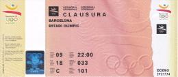 ENTRADA DE LA CEREMONIA DE CLAUSURA DE LAS OLIMPIADAS DE BARCELONA´92 EN EL ESTADI OLIMPIC (COBI) - Juegos Olímpicos