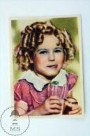 Old Trading Card/ Chromo Topic/ Theme Cinema/ Movie - Actress: Shirley Temple - Chocolat