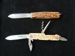 COUTEAU ANCIEN MULTIFONCTION (2 Couteaux PRADEL) - Knives