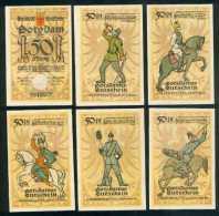 Deutschland Notgeld Potsdam 6 Verschiedene  50 Pfennig 5 Stellig 28.11.1921 Erhaltung I - Lokale Ausgaben