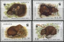 JAMAIQUE WWF, RAT DE LA JAMAIQUE- HUTIA  -1996 ** Neuf Sans Charniere. MNH - W.W.F.