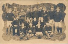 Carte Photo - Une équipe De Football Du S.H.S. - Calcio
