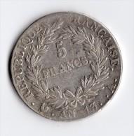 5 Francs  AN 13 A - France