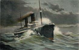 TRANSATLANTIQUE  DANS  LA  TEMPETE     (VIAGGIATA) - Barche