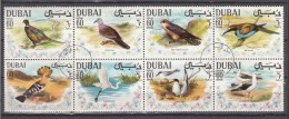 Dubai 1968,8V In 8 Block,set,birds,vogels,vögel,oiseaux,pajaros,uccelli,aves,Used/Gestempeld(L2095) - Non Classés