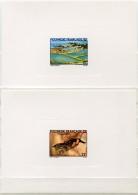 POLYNESIE EPREUVES DE LUXE DES N°150/151 AQUACULTURE - Geschnitten, Drukprobe Und Abarten