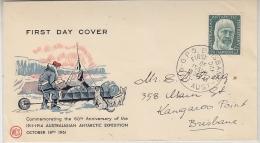 AAT 1961 Mawson 1v FDC Ca Brisbane  18 Oct 1961 (26973 - FDC