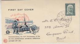 AAT 1961 Mawson 1v FDC Ca Brisbane  18 Oct 1961 (26974) - FDC