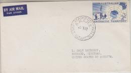 AAT 1959 Map FDC Ca Mawson 20 FE 59 (26975) - FDC