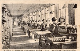 """BEAUCOURT UN ATELIER DE VERIFICATION DE LA MACHINE A ECRIRE A """"JAPY"""" - Beaucourt"""